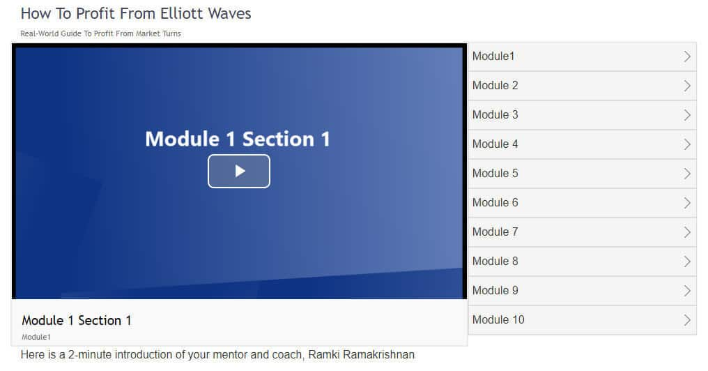 Ramki's online Elliott Wave Educational Program